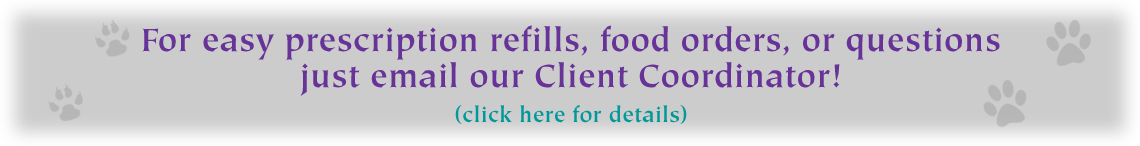 Banner for emails to refill Rx